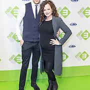 NLD/Hilversum/20170306- Inloop Premiere Telefilms, Anna Speller (zwanger) en vriend Jesse