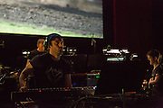 Brooklyn, NY - 20 January 2015. The dress rehearsal of Sufjan Stevens' Round-Up, with slow motion film of the Pendleton, Oregon Round-Up by Aaron and Alex Craig, music performd by Sufjan Stevens and Yarn/Wire. Composer Sufjan Stevens.