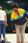 Osterley, Greater london. Robert NORMAND, competing at the Le Piat d'or,  Petanque/Boules Championships held in the grounds of Osterley House West London, England, [Mandatory Credit; Peter Spurrier/Intersport Images] 19870912 Petanque Championships, Osterley, Greater London, UK