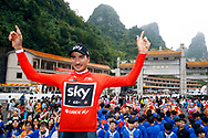 Gianni Moscon (ITA - Team Sky) red leader jersey during the Tour of Guangxi 2018, stage 4 cycling race, Nanning - Nongla Scenic Area (152,2 km) on October 19, 2018 in Nongla, China - Photo Luca Bettini / BettiniPhoto / ProSportsImages / DPPI
