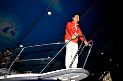 Kim Moon Soo, Governor of Gyeonggi Province onboard a Nimbus 380. Photo:Chris Davies/WMRT