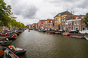 canal, cityscape, Alkmaar, The Netherlands