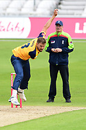 Mathew Pillans of Yorkshire during the Vitality T20 Blast North Group match between Nottinghamshire County Cricket Club and Yorkshire County Cricket Club at Trent Bridge, Nottingham, United Kingdon on 31 August 2020.
