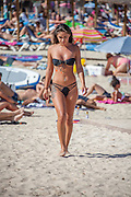 EXCLUSIVE<br /> Emma Jane wood in Magaluf looked stunning as she walked along the beach as well as taking some time to ride on a jet ski<br /> ©Exclusivepix Media