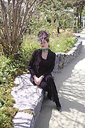 Jasmine Guinness wearing Philip Treacy hat. Royal Horticultural Society's Chelsea Flower Show, Royal Hospital's grounds. Chelsea. 23 May 2005.  ONE TIME USE ONLY - DO NOT ARCHIVE  © Copyright Photograph by Dafydd Jones 66 Stockwell Park Rd. London SW9 0DA Tel 020 7733 0108 www.dafjones.com