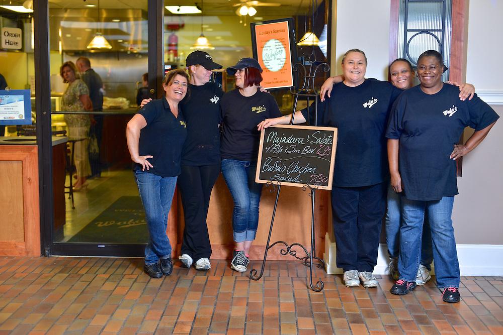 Employees at Wafa's Mediterranean Restaurant.