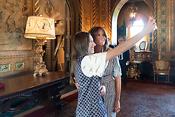 March 28, 2019 - Palm Beach, Florida, U.S. - First Lady Melania Trump with Fabiana Rosales de Guaido, the First Lady of the Bolivarian Republic of Venezuela Thursday, March 28, 2019, at Mar-a-Lago in Palm Beach. (Credit Image: ? White House via ZUMA Wire/ZUMAPRESS.com)