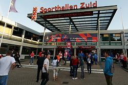 17-09-2019 NED: EC Volleyball 2019 Netherlands - Estonia, Amsterdam<br /> First round group D Netherlands win 3-1 / Entrance Sporthallen Zuid