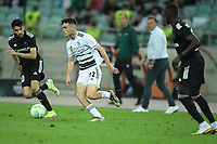 Abdellah Zoubir (10) of Qarabag FK fights for the ball with Sergio Lopez (22) of FC Basel  during the UEFA Europa Conference League group H match between Qarabag FK and FC Basel at  on September 16, 2021 in Baku, Azerbaijan.