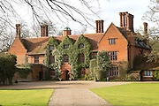 Tudor architecture of Woodhall manor, Sutton, Suffolk, England