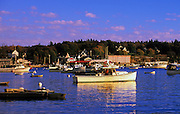 Image of Bass Harbor and the small quaint fishing village of Bernard on Mount Desert Island in Maine, American Northeast by Andrea Wells