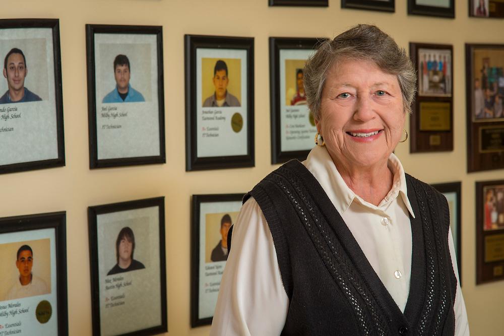 Sue Ann Payne poses for a photograph at the Vara Center, September 4, 2014.
