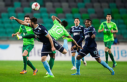 Matija Skarabot of Gorica vs Julius Wobay of Olimpija during football match between NK Olimpija Ljubljana and ND Gorica in Round #26 of Prva liga Telekom Slovenije 2016/17, on March 29, 2017 in SRC Stozice, Ljubljana, Slovenia. Photo by Vid Ponikvar / Sportida
