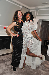 Left to right, ALICE TEMPERLEY and SHINGAI SHONIWA at a party to celebrate thelaunch of Alice Temperley's flagship store Temperley, Bruton Street, London on 6th December 2012.