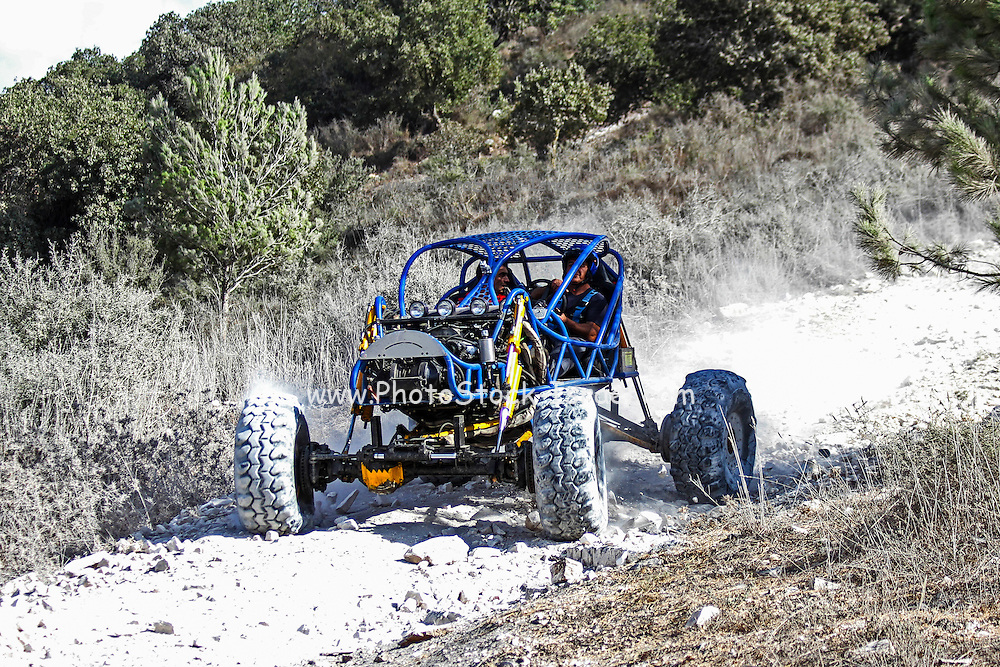 Cross country rally. A racing buggy event. Photographed in Israel