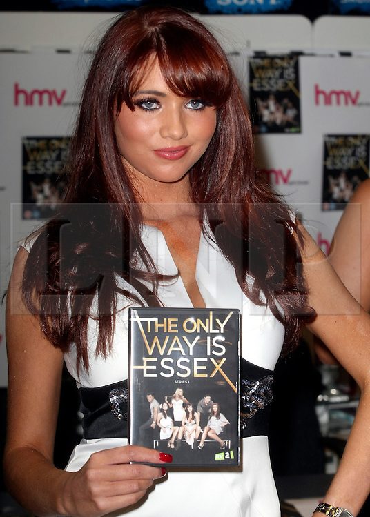 © under license to London News Pictures. 28/03/11. Amy Childs. 'The Only Way Is Essex' cast promote and sign copies of their new DVD at HMV in Lakeside mall. Essex, England. Photo credit should read Andy Barnes/LNP