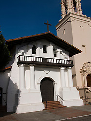 California: San Francisco. Mission Dolores, front. Photo copyright Lee Foster. Photo #: 26-casanf78507