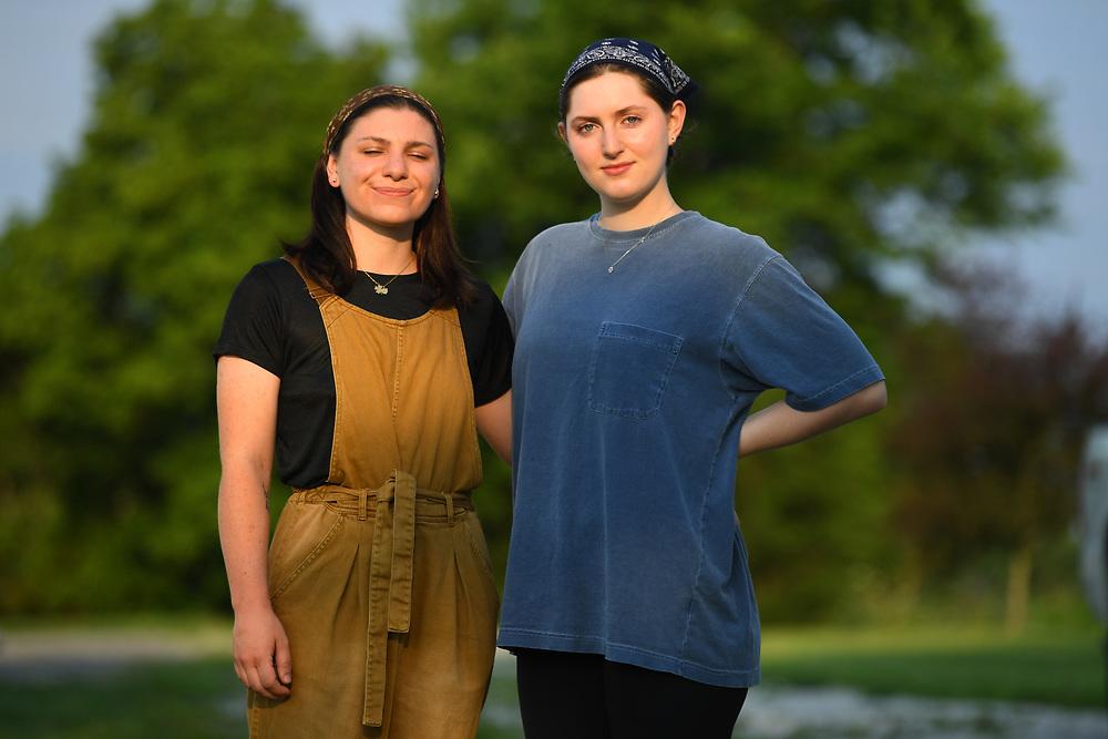7/6/20 6:53:18 AM  -- Shai Bardin and Carolyn Rogers --    Photo by Jack Gruber