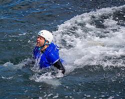 18MAY21 Matt diving in, Coasteering with Ocean Vertical at Dunbar.