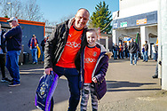 Luton fans arrive ahead of the EFL Sky Bet League 1 match between Luton Town and Coventry City at Kenilworth Road, Luton, England on 24 February 2019.
