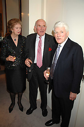 Left to right, LORD & LADY CLINTON and SIR MICHAEL VERNON at a fund raising evening in aid of the Royal National Lifeboat Institution at Garrard, 24 Albemarle Street, London W1 on 23rd April 2008.<br /><br />NON EXCLUSIVE - WORLD RIGHTS