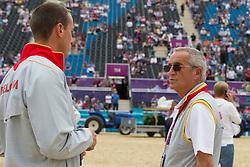 Wathelet Gregory (BEL), Guerdat Philippe (SUI)<br /> Olympic Games London 2012<br /> © Dirk Caremans
