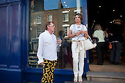 ANDREW FOX; SALLY-MARGUERITE COUNTESS DE WYNTER, Pimlico Road party. 22 June 2010. -DO NOT ARCHIVE-© Copyright Photograph by Dafydd Jones. 248 Clapham Rd. London SW9 0PZ. Tel 0207 820 0771. www.dafjones.com.
