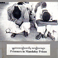 Mae Sot, Thailand 03 October  2007<br /> <br /> Reproduction of a picture of Mandalay Prison given by the Museum of the Association for Assistance to Burmese Political Prisoners (AABPP) of the city of Mae Sot.<br /> <br /> <br /> Burmese political refugees, from the main ethnic Karen, have been living for more than 20 years in this camp, at approximately 80km of Mae Sot. The refugees are mainly Buddhists and Christians, with a smaller number of Muslims. Mae La's refugee camp counts approximately 50.000 refugees.<br /> Photo: Ezequiel Scagnetti