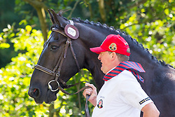 Gerts Schrijvers, (BEL), El Fiero, Giganta A, Onyx, Replay, Victor K - Horse Inspection Driving - Alltech FEI World Equestrian Games™ 2014 - Normandy, France.<br /> © Hippo Foto Team - Leanjo de Koster<br /> 25/06/14