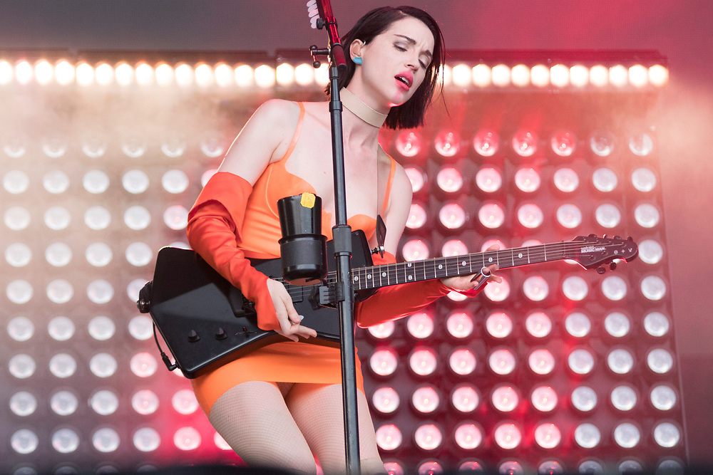 St. Vincent perform at Lollapalooza in Chicago, IL on August 4, 2018.