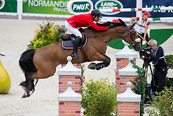 Amre Hamcho, (SYR), Citizenguard Cadjanine Z - Team & Individual Competition Jumping Speed - Alltech FEI World Equestrian Games™ 2014 - Normandy, France.<br /> © Hippo Foto Team - Leanjo De Koster<br /> 02-09-14
