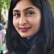 Speaker Labour MP Zarah Sultana at the protests against UK government racism, Stop the police bill of Gypsy Roma & Traveller in Parliament square, 7tth July 2021, London, UK.