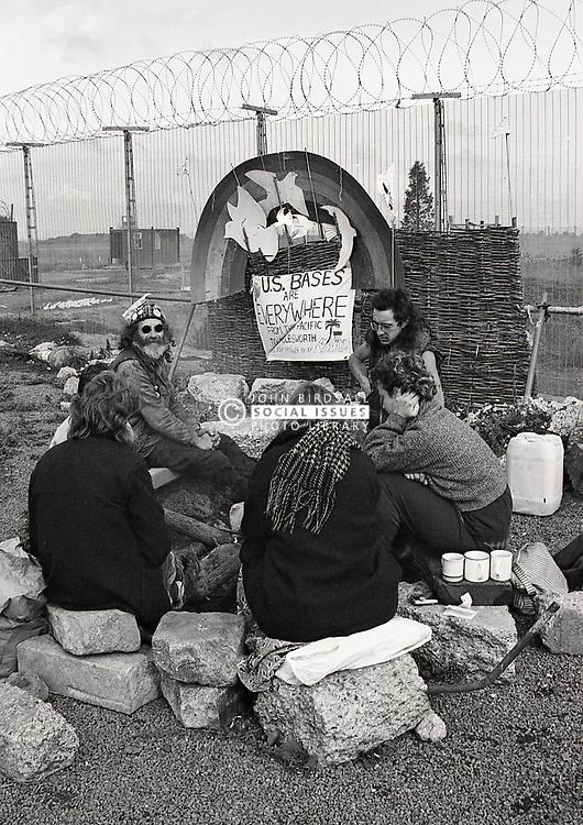 Peace camp at Molesworth US airbase, UK September 1986