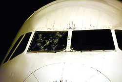 July 27, 2017 - ‡Anakkale, Türkiye - The rain and hail storm in Istanbul region caused damage on Cyprus - Istanbul Turkish Airlines flight. The plane made an emergency landing at Canakkale Airport, Aegean city of Turkey. (Credit Image: © Depo Photos via ZUMA Wire)