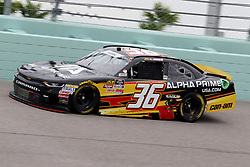 November 16, 2018 - Homestead, FL, U.S. - HOMESTEAD, FL - NOVEMBER 16: Alex Labbe, driver of the #36 Chevy, during practice for the NASCAR Xfinity Series playoff race, the Ford EcoBoost 300 on November 16, 2018, at Homestead-Miami Speedway in Homestead, FL. (Photo by Malcolm Hope/Icon Sportswire) (Credit Image: © Malcolm Hope/Icon SMI via ZUMA Press)