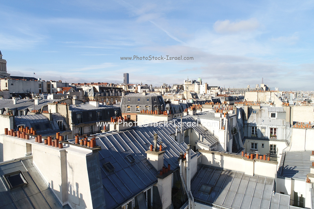 rooftop view of Paris, France