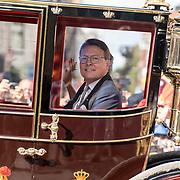 NLD/Den Haag/20170919 - Prinsjesdag 2017, Prins Constantijn in de koets