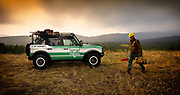 Image of a firefighter and his Ford/Filson Bronco concept vehicle in Washington, Pacific Northwest by Randy Wells. Automotive-photographer-car-landscape-nature-photos-storyteller-writer-location-and-studio-specialist