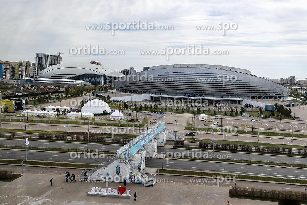 View on Astana Arena (football) and Saryarqa Republican Cycle Track from Barys Arena (hockey) at IIHF World Championship DIV. I Group A Kazakhstan 2019, on May 5, 2019 in Barys Arena, Nur-Sultan, Kazakhstan. Photo by Matic Klansek Velej / Sportida