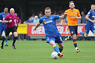AFC Wimbledon midfielder Dean Parrett (18) dribbling during the EFL Sky Bet League 1 match between AFC Wimbledon and Oldham Athletic at the Cherry Red Records Stadium, Kingston, England on 21 April 2018. Picture by Matthew Redman.