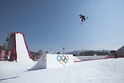 Torgeir Bergrem, Norway, during the mens snowboard big air practice at the Pyeongchang 2018 Winter Olympics on 22nd February 2018, at the Alpensia Ski Jumping Centre in Pyeongchang-gun, South Korea
