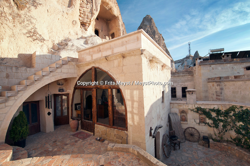 Goreme, Cappadocia, Nevsehir, Turkey, November 2011. Dutch Photographer Frits Meyst and his wife Jillian Macdonald restored an old rock house in the village of Goreme. Since Roman times people have been cutting graves and homes out of the Soft tufo 'Fairy Chimney' rocks of Cappadocia. Photo by Frits Meyst/Adventure4ever.com