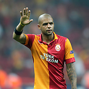 Galatasaray's Felipe Melo during their UEFA Champions League Group H matchday 2 soccer match Galatasaray between Braga at the TT Arena Ali Sami Yen Spor Kompleksi in Istanbul, Turkey on Tuesday 02 October 2012. Photo by Aykut AKICI/TURKPIX