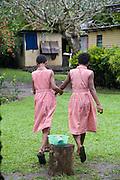 Schoolgirls, Vuniuto Village, Taveuni, Fiji