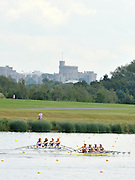 Eton. Great Britain.  GBR JW4X, Fri. Semi Final A/B. foreground, Forground. Bow.  Jessica LEYDEN, Klara WEAVER, Katie BARTLETT and Lucy BURGESS,   down to NED at the 300 mts into the race,  at the Eton Rowing Centre 2011 FISA Junior  World Rowing Championships. Dorney Lake, Nr Windsor. Friday, 05/08/2011  [Mandatory credit: Peter Spurrier Intersport Images]