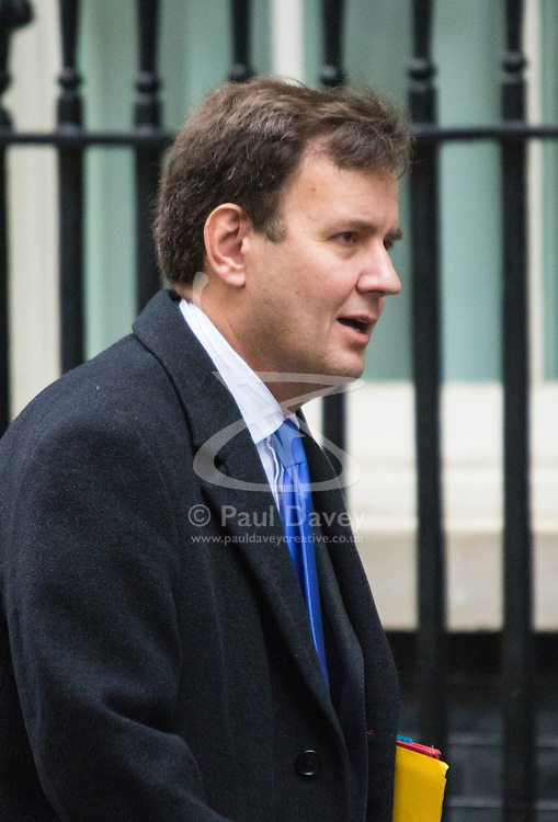 Downing Street, London, November 17th 2015. Chief Secretary to the Treasury Greg Hands arrives at Downing Street for the weekly cabinet meeting.