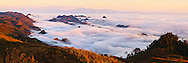 panoramic images of Mocchau plateau in the morning cloud-North vietnam