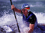 © 2000 All Rights Reserved - Peter Spurrier Sports Photo. K1  Slalom Canoe - Sydney Olympics 2000 - Penrith Lakes, NSW. ..First run 19th Sept 2000  Thomas Schmidt - GER. [Mandatory Credit. Peter Spurrier:Intersport Images]
