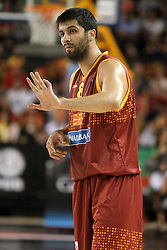 25.08.2015, Palacio de los Deportes de La Rioja, Logrono, ESP, Basketball Testspiel, Spanien vs Mazedonien, im Bild Macedonia's Vojdan Stojanovski // during a International Basketball Friendly Match between Spain and Macedonia at the Palacio de los Deportes de La Rioja in Logrono, Spain on 2015/08/25. EXPA Pictures © 2015, PhotoCredit: EXPA/ Alterphotos/ Acero<br /> <br /> *****ATTENTION - OUT of ESP, SUI*****