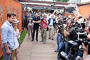 Roland Garros. Paris, France. May 31st 2012.Photographers in front of Diane Kruger (left).